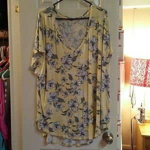 Maurices 24/7 Flower Print Casual Top